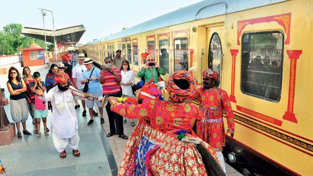 Palace on Wheels Train standing at platform